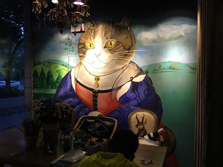 扬州漫猫咖啡馆彩绘