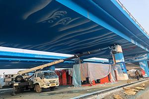 仙女庙大桥西侧彩绘工程