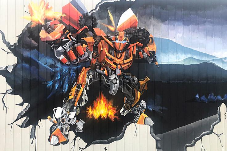 扬州技师学院墙体彩绘工程