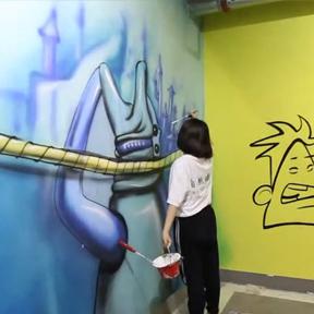 扬州自然墙绘宣传片暨南京德基广场彩绘工程