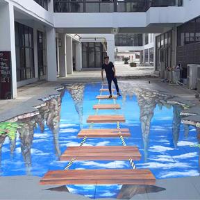 扬州最大3d地面立体画